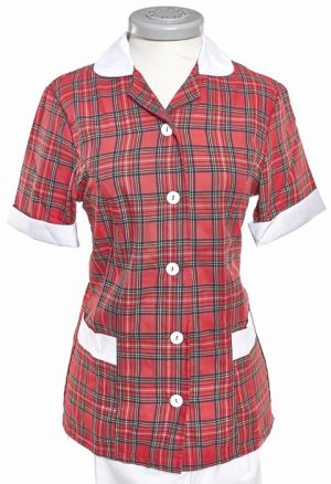Casaca Viyela Escocesa Roja